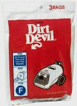 Hoover Vacuum Bag TYPE F For Canister Cleaners Remove Dust Pollen 3pk 3200147001 - $8.99