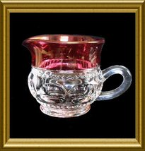 Tiffin Creamer in the Ruby Flashed King's Crown pattern Vintage circa 19... - $8.00
