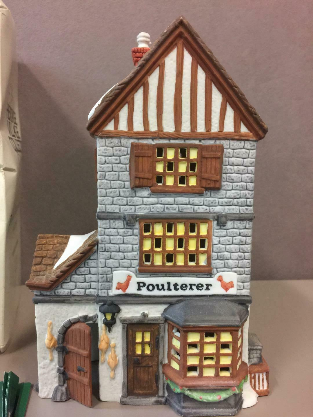 Primary image for DEPARTMENT 56 POULTERER #59269 Hand Painted Porcelain Dickens Village Series