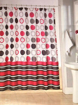 """Fabric Shower Curtain Circle and Stripes Jacquard 72"""" x72"""" Dorm College  - $37.50"""