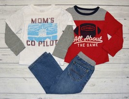 Lot Toddler Boys 2T Childrens Place Outfit Set Long Sleeve Tee Shirts Tops Jeans - $12.99