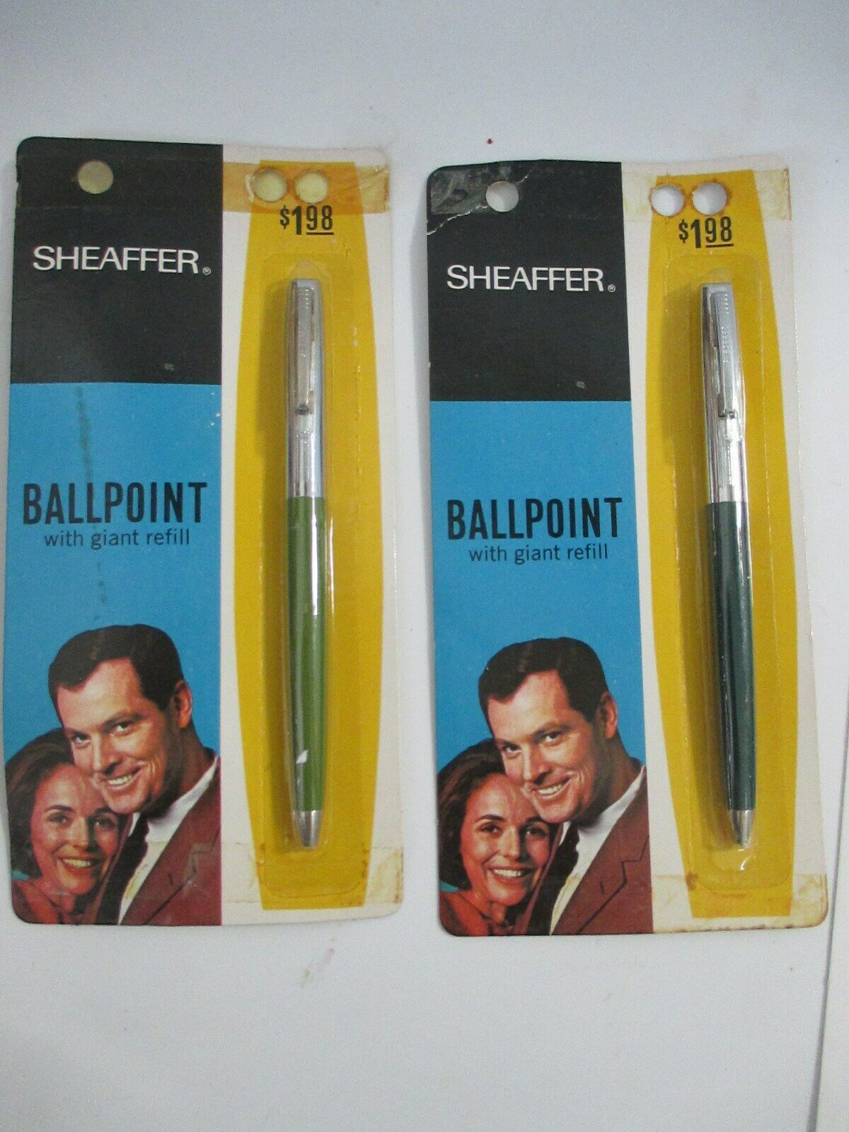 Vintage W A Sheaffer Ballpoint Giant Refill Pens New in Package
