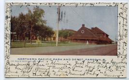 Northern Pacific Railroad Depot North Dakota 1905 postcard - $7.43