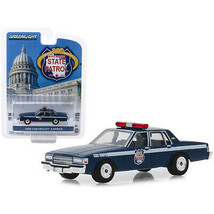 1989 Chevrolet Caprice Police Car Dark Blue Wisconsin State Patrol 80th Anniv... - $18.49