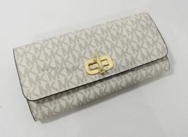 NWT MICHAEL Michael Kors Sullivan Large Carryall Wallet in Signature Vanilla - $139.00