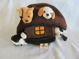 Unipak Pirate Ship Plush with 4 Dogs Puppies Boat House 12 in - $19.95