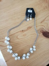 1081 Silver W/ Pearl Beads (New) - $7.69
