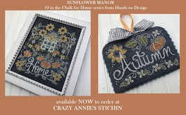 Sunflower Manor #3 Chalk for the Home Series cross stitch chart Hands On Design  - $10.80