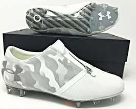 Under Armour UA Spotlight FG White/Grey Mens Soccer Cleats $220 SZ (1289531-100) - $79.99
