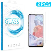 Lg Stylo 6 2 Pack Tempered Glass Screen Protector 0.26Mm Arcing/Clear/On... - $9.30