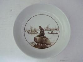 Vintage Royal Copenhagen Brown Mermaid Porcelain Bowl FAJANCE 502-3921 LANGELINE - $24.50