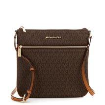 Signature Flat Brown Crossbody Bag   - $539.99