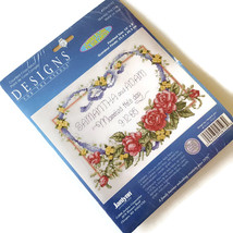 Janlynn Wedding Counted Cross Stitch Kit Married This Day Heart Roses New - $18.76