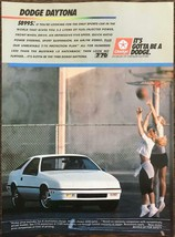 1988 Dodge Daytona Sports Car Print Ad Young Women Playing Basketball - $10.34