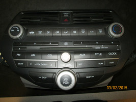 08 09 10 11 HONDA ACCORD RADIO CD PLAYER CLIMATE CONTROL #39100-TA0-A01 ... - $184.10
