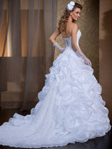 Ruffled Lace Strapless  two in one Wedding Dresses with Removable Skirt image 2