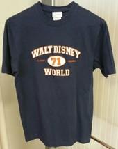 Disney Walt Disney World 71 Embroidered Classic Original Navy Blue Shirt Men's M - $14.85