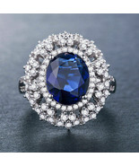 925 silver stamped blue sapphire ring size 7 - $49.99