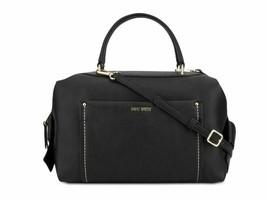 Nine West NWT Black Satchel Shoulder Hand Bag Maslina Faux Leather Gold - $47.25