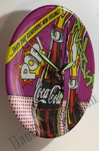 "Coke Coca-Cola Always POP Bottle Art 9"" Circle Wall mount Clock NEW  image 2"