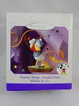 Hallmark Keepsake Ornament 1998 Mickey & Co Practice Swing ~ Donald Duck - $8.54