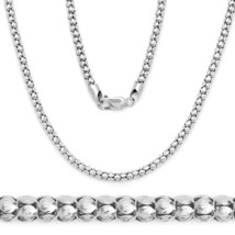 Men/Women Stylish Italy 925 Silver 14k WG Popcorn Link Chain Pave Neckla... - $70.61+