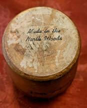 "Vintage Hand Lathed Wooodruff, Wis. Souvenir Wooden Vase 5 1/2"" Tall image 2"