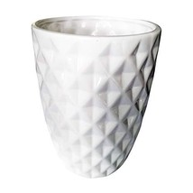 Orchid Pot, 3.7 Inch White Ceramic Flower Pot Cactus Plant Container Dia... - $24.25