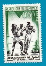 Used Postage Stamp - Dahomey 1963 Sports-Boxers (Scott 172) .50f - $1.99