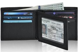 Slim RFID Men's Wallet - Genuine Leather Front Pocket Bifold Wallet