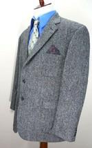 Recent Paul Fredrick HARRIS TWEED GRAY HERRINGBONE Blazer/Sport Jacket USA - $58.79