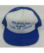 Mechanic Muffler King Tune Up Center Snapback Hat Trucker Mesh Vintage 80s Cap - $21.75