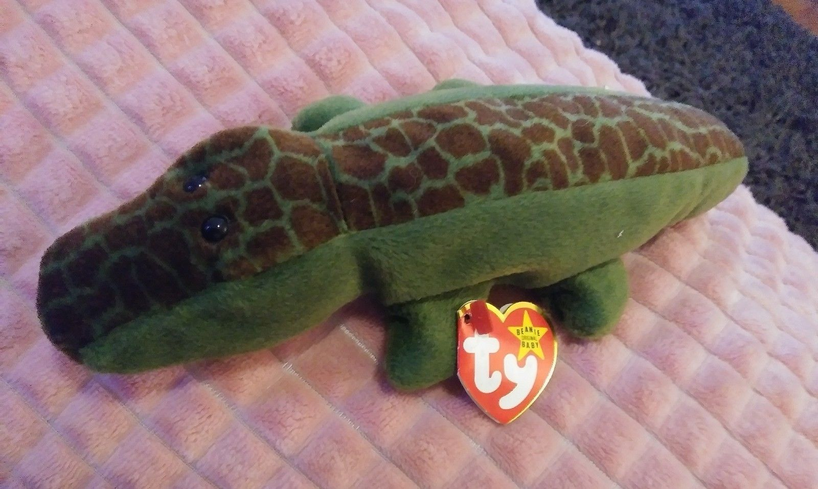 6d57bfba5a3 S l1600. S l1600. Ty Ally The Alligator Bean Bag Toy Beanie Baby Retired  Original Collections