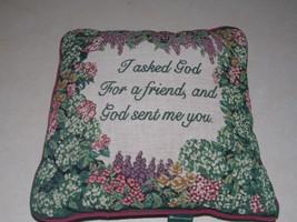 Tapestry Flower Print Decorative Throw Pillow  17 x 17 - $39.95