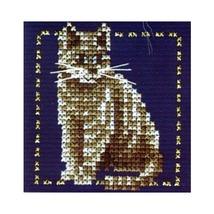Lanarte 34793A  Cross stitch  Grey kitten size 7,5/7,5 sm. - $2.00