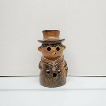 Vtg National Silver Company Japan Genuine Stoneware Jolly Man Tea Light ... - $10.97