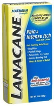 Lanacane Cream, Pain & Intense Itch, Maximum Strength, 1-Ounce Boxes Pack of 3