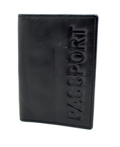 Alpha Leather Passport Cover Holder Black 	 - $15.31
