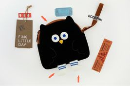 Brunch Brother Flying Owl Pouch Cosmetic Bag Case Organizer (Black) image 3