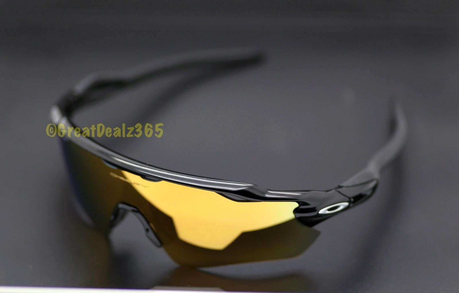 857e75427e NEW CUSTOM OAKLEY RADAR EV, POLISHED BLACK FRAME, 24K GOLD IRIDIUM PATH LENS
