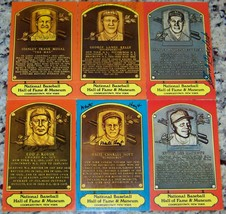 Stan Musial Eddie Mathews Hoyt Roush Signed Dexter HOF Postcard Plaque J... - $246.51
