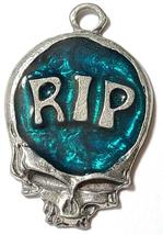 RIP Skull Fine Pewter Pendant Approx. 1 5/8 inches tall image 3