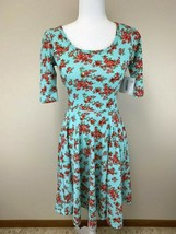 Nwt Flaws Lularoe Xs Mint Rose Cherry Blossom Floral Nicole Dress Flaws - $24.99
