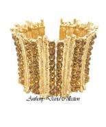 Anthony David Gold & Bronze Crystal Cuff Bracelet - $24.74