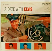 Date With Elvis Presley RCA Victor LSP-2011 (e) LP Vintage 60s Record Bl... - $89.09