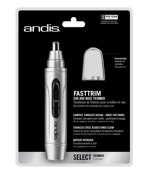 Primary image for ANDIS FAST TRIM CORDLESS PERSONAL TRIMMER 13540 safely trims nose and ear hair.