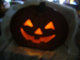 Bethany Lowe Jack O Lantern Dummy Board Luminary with Light Halloween image 2