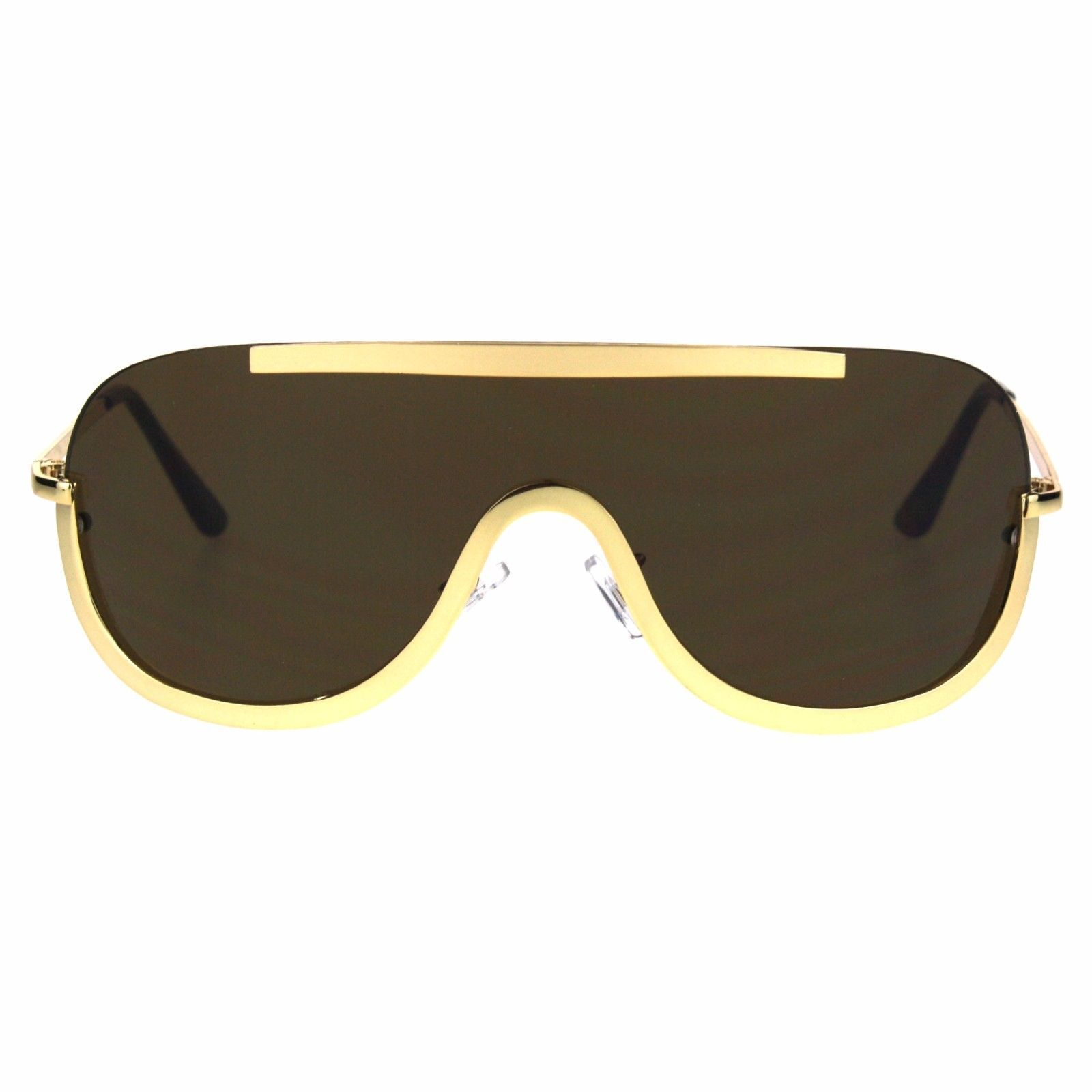 Retro Modern Fashion Sunglasses Unisex Oversized Shield Frame UV 400