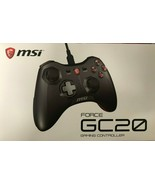 MSI - Force GC20 - Wired GAMING Controller Dual Vibrations - Black - $39.55