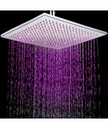 12 Inch Copper Water Saving RGB 3 Colors Changing Rainfall Fixed Shower ... - $148.45